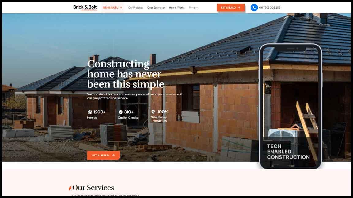 Brick & Bolt Website