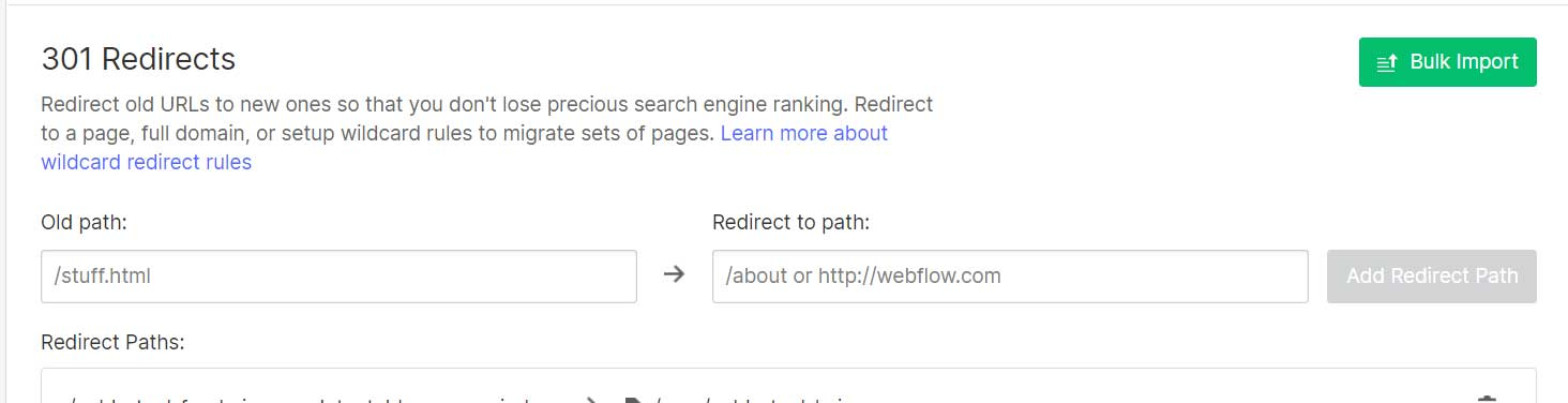 Add Redirects to Old Pages