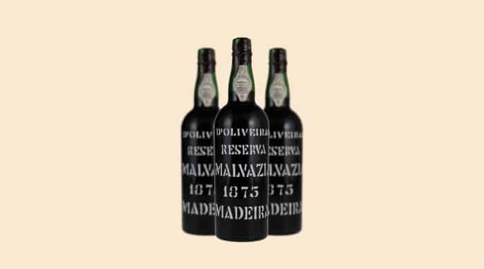 moscato wine: 1875 D'Oliveiras Moscatel Reserva Vintage, Madeira, Portugal