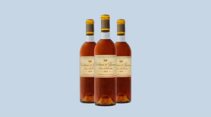 Sweet wine: 1971 Chateau d'Yquem, Sauternes, France