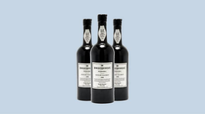 Sweet wine:  1990 Henriques & Henriques Century Solera Malmsey, Madeira, Portugal
