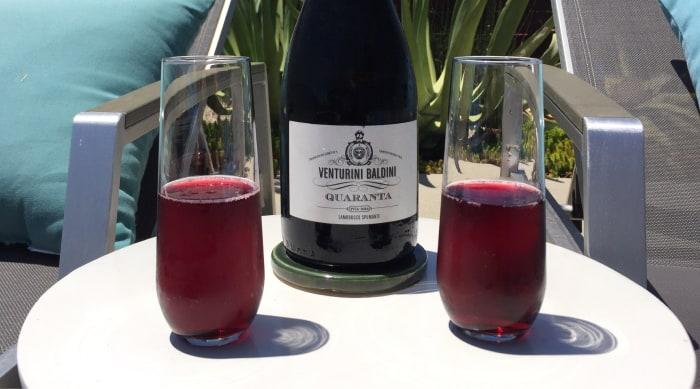Sparkling red wine: Lambrusco