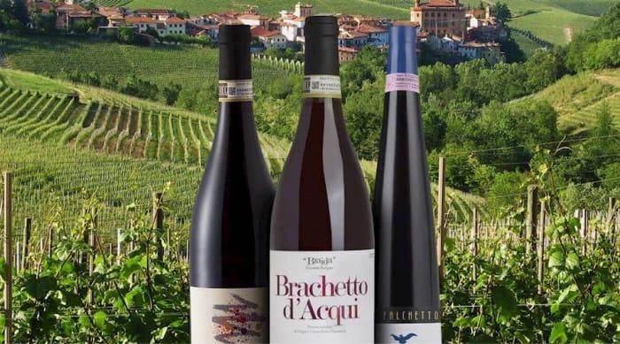 Sparkling red wine:  Brachetto d'Acqui