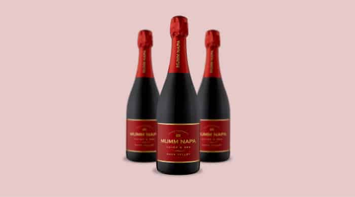 Sparkling red wine: