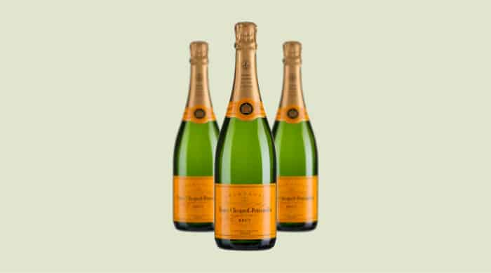 sparkling wine: Veuve Clicquot Ponsardin Vintage Brut Champagne 2010