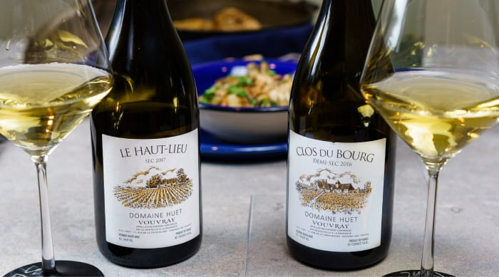 What do you eat Vouvray wine with?