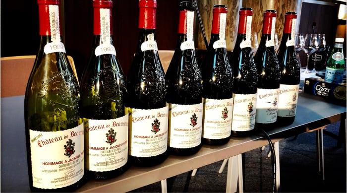 Cotes du Rhone wine: Chateau de Beaucastel Chateauneuf-du-Pape Grand Cuvée Hommage a Jacques Perrin