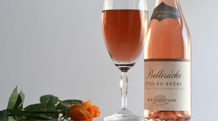Cotes du Rhone wine: M. Chapoutier Cotes du Rhône Rose Belleruche, Rhône, France