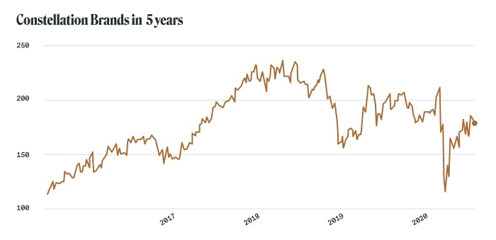 Alcohol stocks: Constellation Brands (NYSE: STZ)