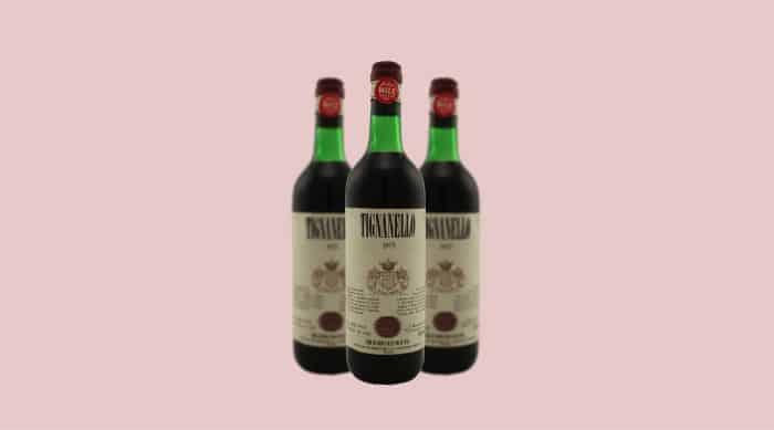 1975 Antinori Tignanello wine