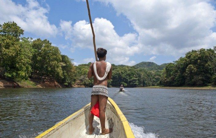 Embera Indianerne råder over det ugjennomtrengelige Darién-hinderet.