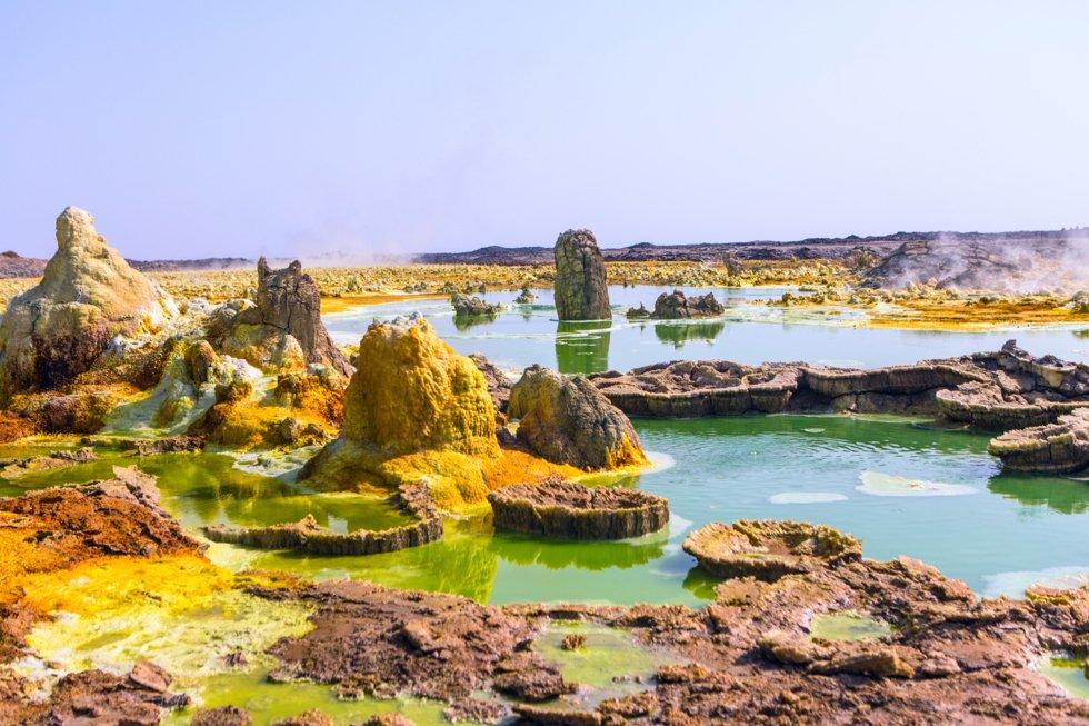 Sulphurkildene ved Dallol sjøen i Danakil dalen.