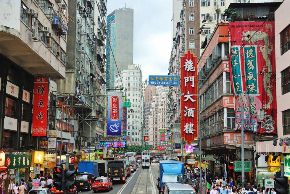 Det er hektisk i Asias internasjonale forretnings og finanssentrum.