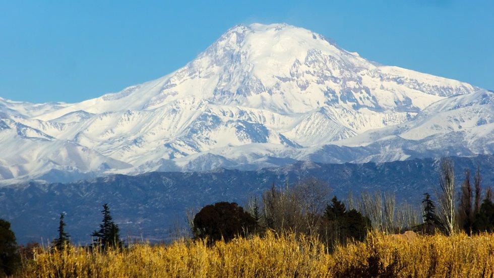 Tupungato volcano.