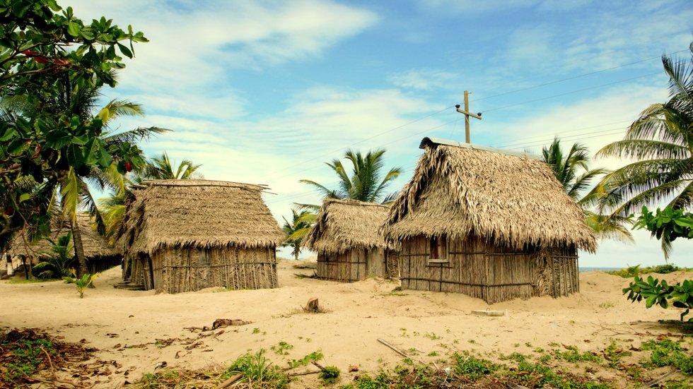 Landsbyene langs Honduras' karibiske kyst er i hovedsak etablert av garifunafolket.
