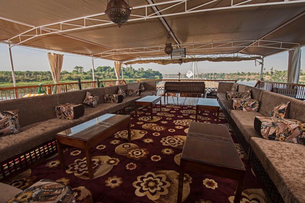 Komfort ombord cruisebåten på Nilen.