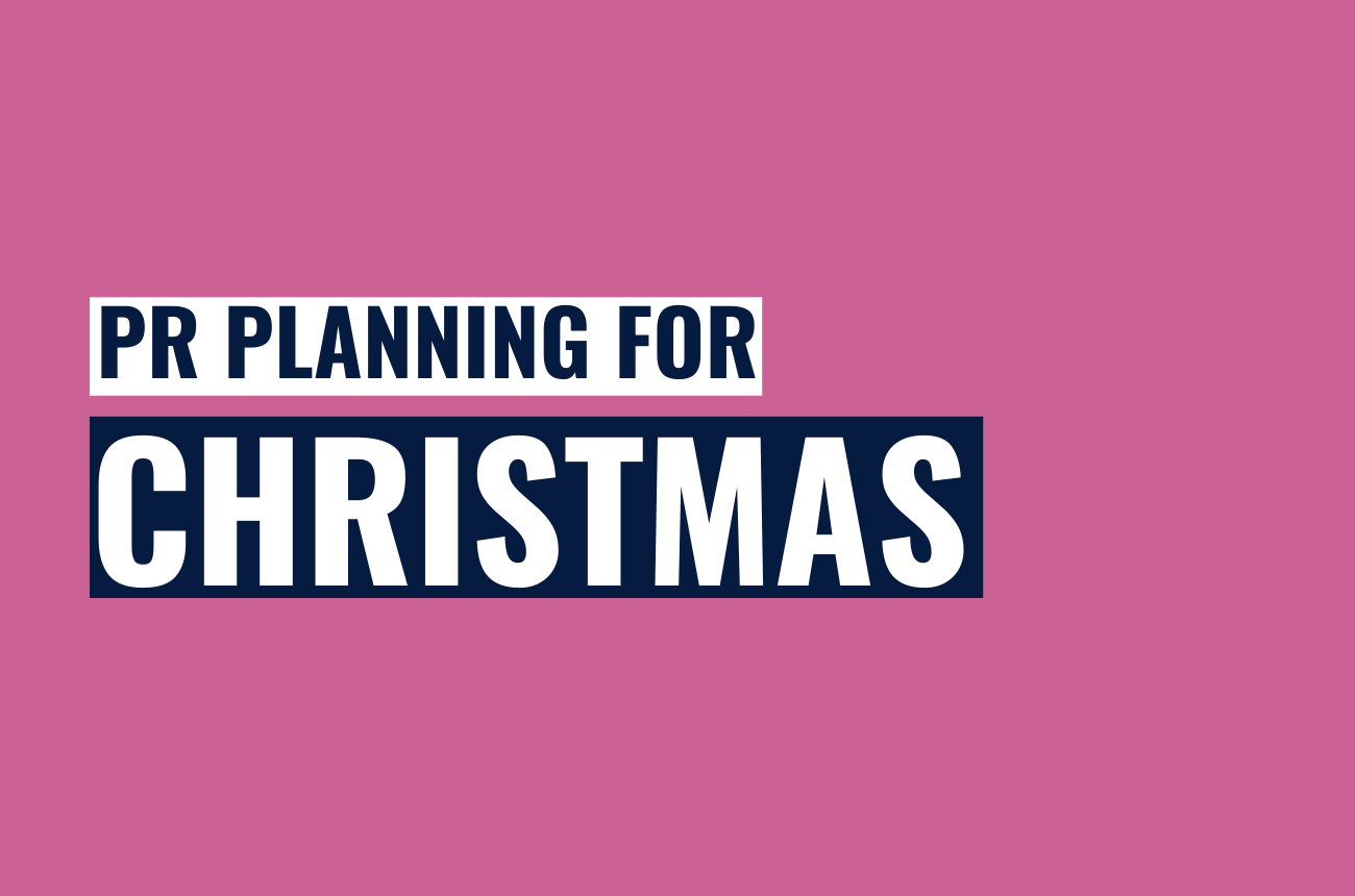 PR planning for Christmas