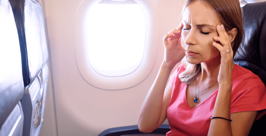 For many people, their sinus infections and irritations flare up during a flight, when pressure is low.