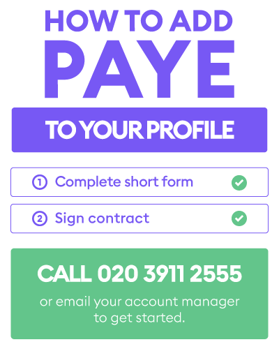 How to add PAYE to your profile - Florence