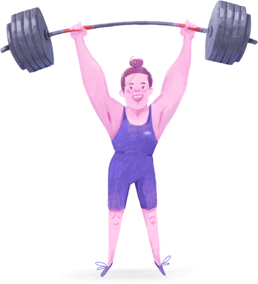 N&F Character Illustration - Weightlifter