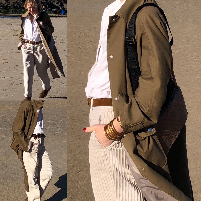 Tenue du jour Trench, pantalon et chemise @hod_paris  Ceinture @herbert_freresoeur  Boots @blundstonefrance  le tout @les_heures_parishttps://www.instagram.com/p/CLcRU1ZFmDa/