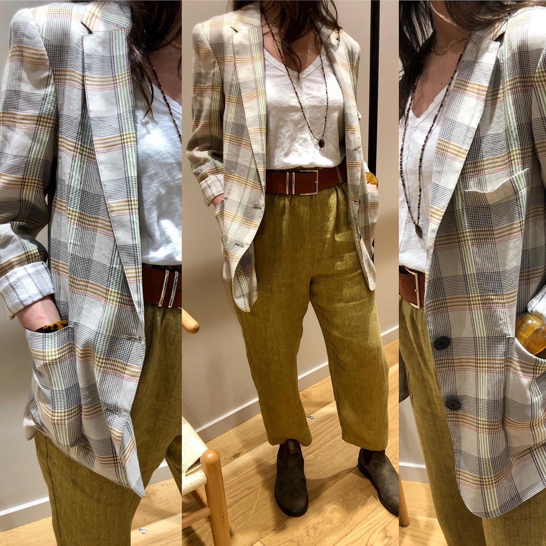 Tenue idéale !!! Veste, pantalon @hod_paris ,  Tee-shirt @bobilosangeles  Ceinture @herbert_freresoeur  Boots @blundstonefrancehttps://www.instagram.com/p/CMAl2aYlYDk/