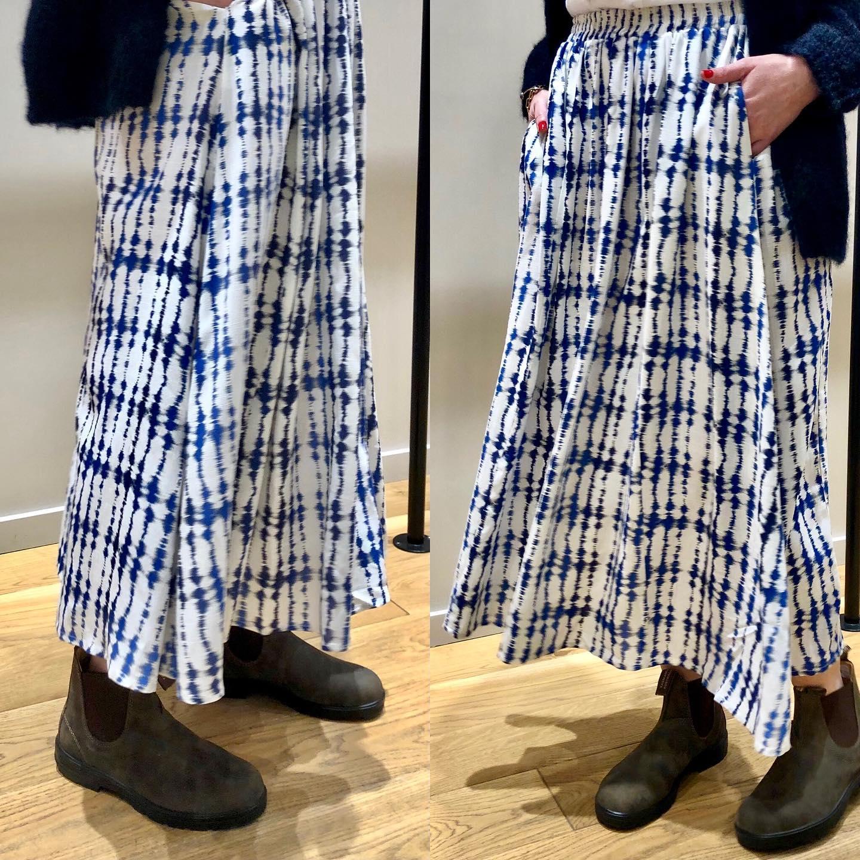 Les jolis mélanges, jupe longue tie&dye, boots Blundstone et gilet en mohairhttps://www.instagram.com/p/CMFzxnMFE_J/