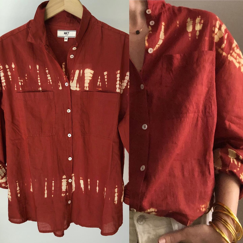 Les chemises en voile de coton sont en ligne 🙌🤗❤️ #tieanddye #coton #kaki #jaune #briquehttps://www.instagram.com/p/CMpLLi5lFax/