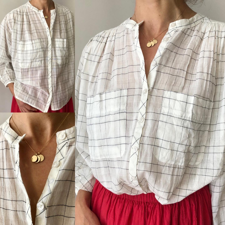 Blouse boutonnée  en ligne www.lesheuresparis.fr #blouse #coton #hodhttps://www.instagram.com/p/CNBFl-Qln3z/