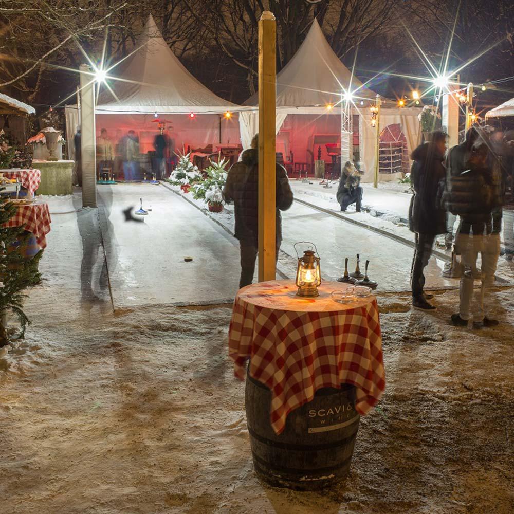 Bamberger Haus Eisstockschießen