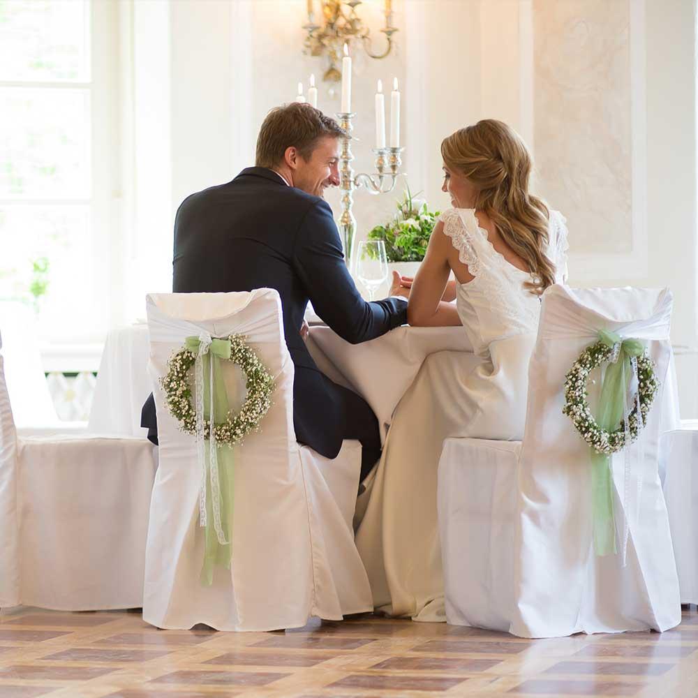 Pärchen im Bamberger Haus zur Hochzeit