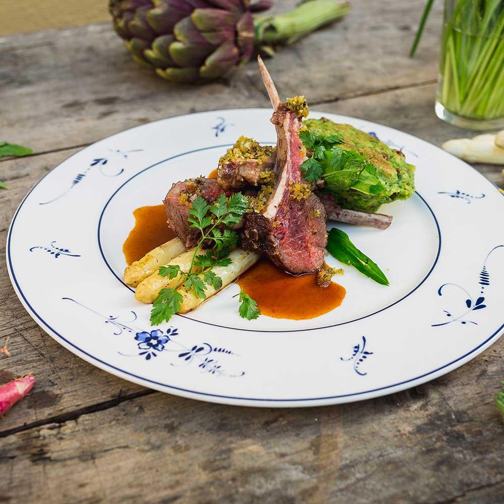 Spargel und Wild Gericht Bamberger Haus Restaurant