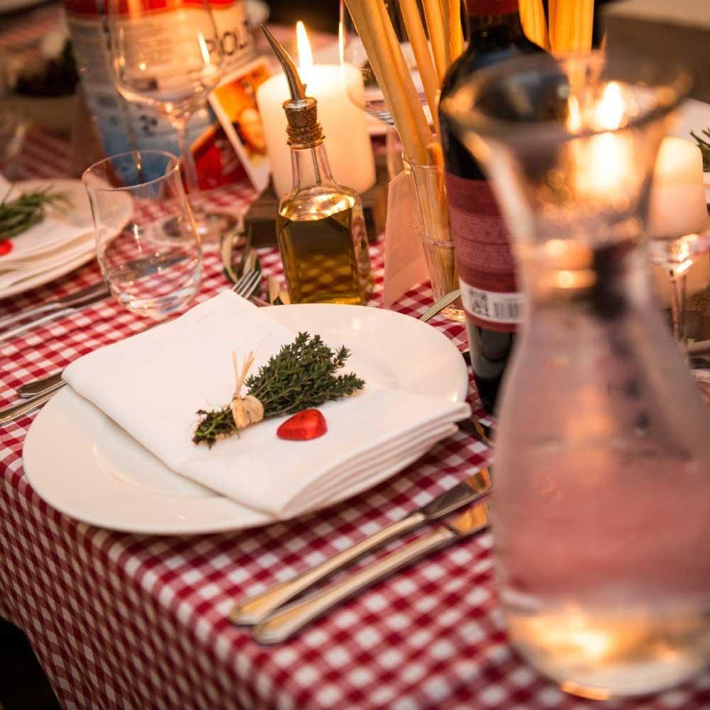 gedeckter Tisch Bamberger Haus Event