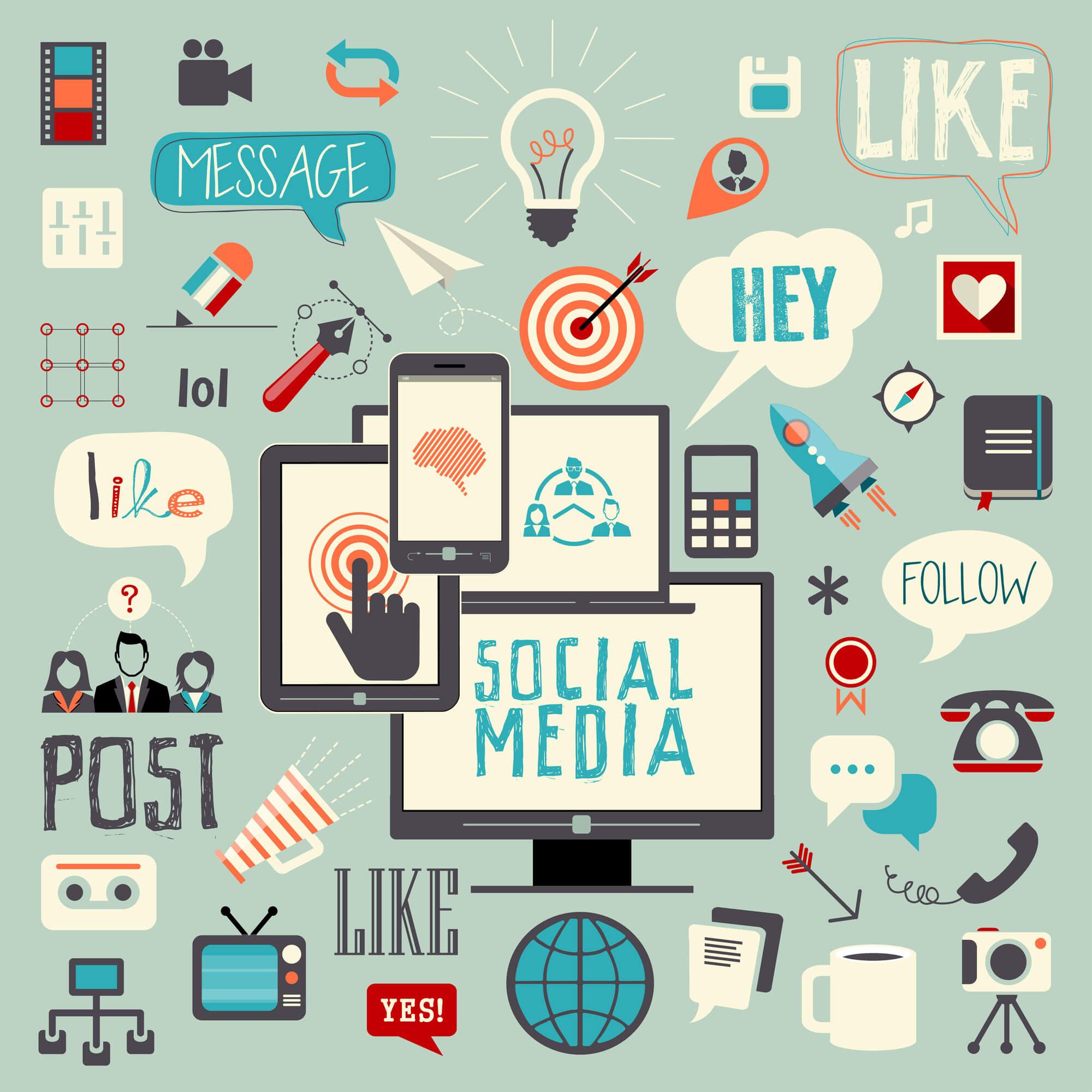 popular social media signs and symbols