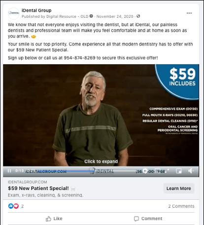 idental_facebook_ad_new_patient_video