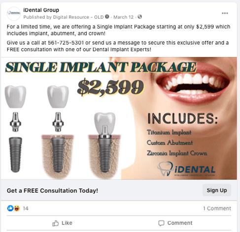 idental_case_study_dental_implant_facebook_ad