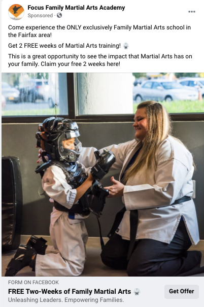 digital resource facebook advertising martial arts studio