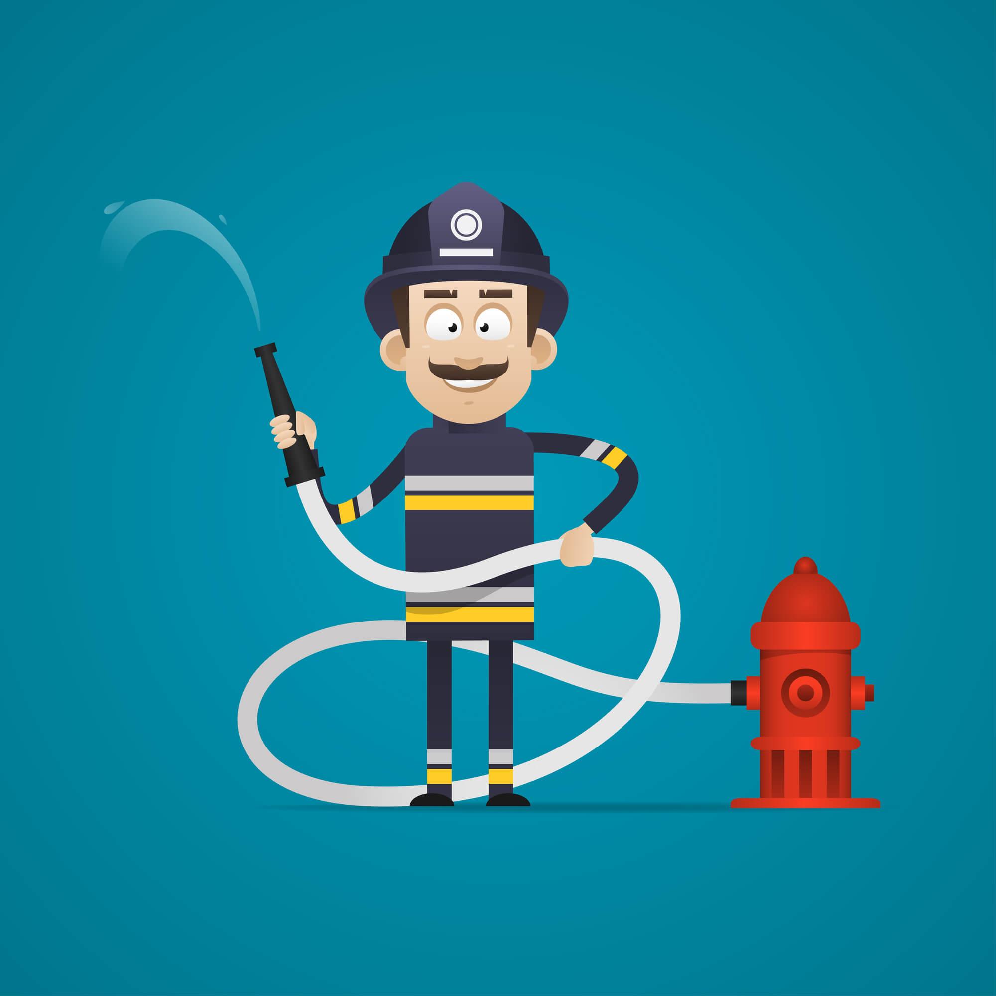 smiling-fireman-holding-hose