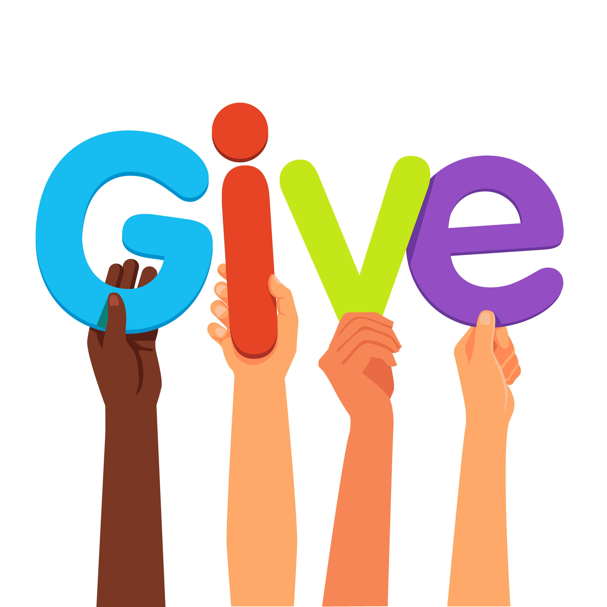 different-hands-holding-give-word