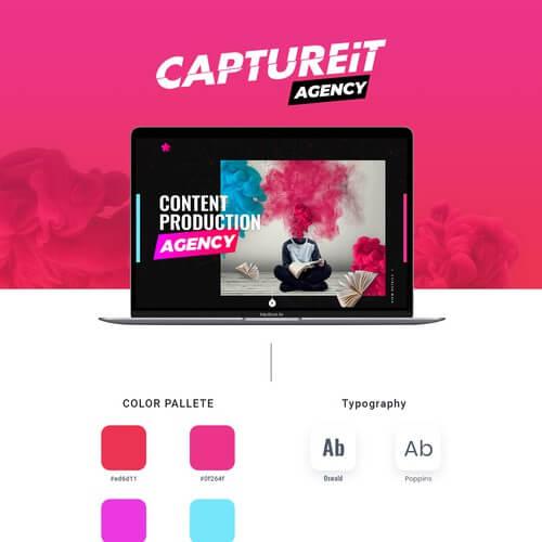 sample website design aesthetics