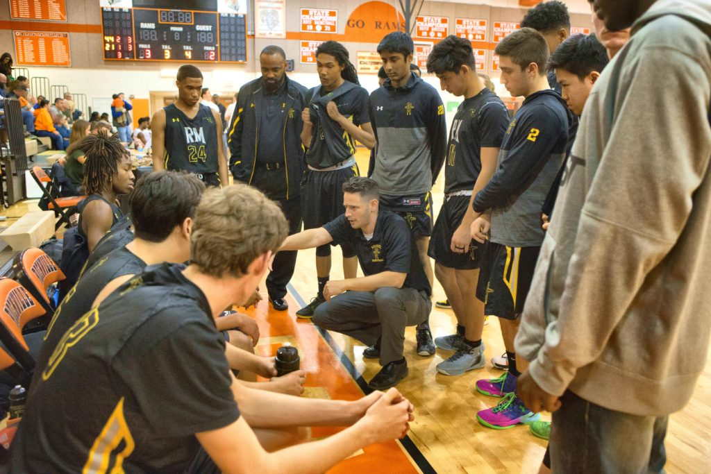 Richard Montgomery High School Head Coach David Breslaw | Photo Credit: prephoops.com