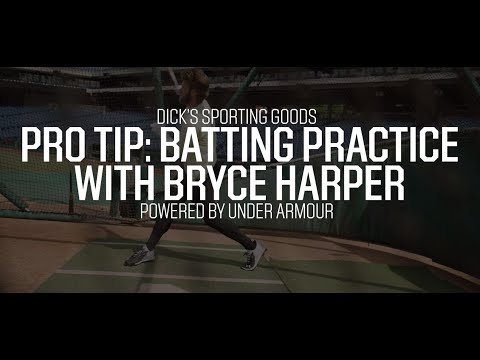Batting Practice with Bryce Harper