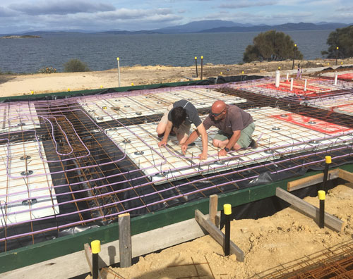 installing underfloor heating in a new home