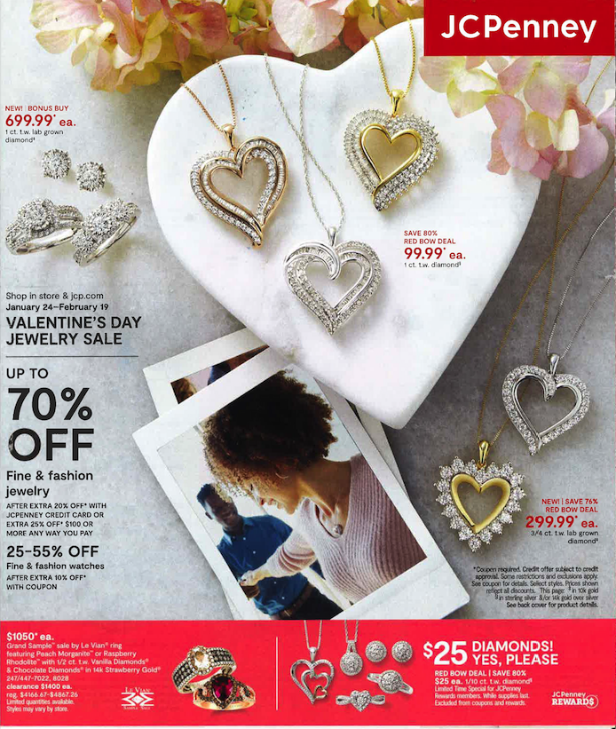 jewelry sales for valentines day at jcpenney