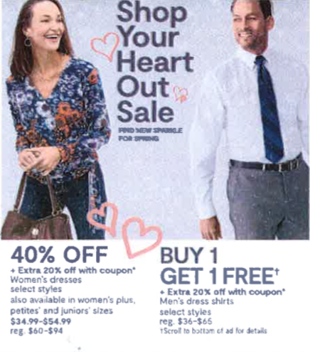 jcpenney shop your heart out mens and women's clothing