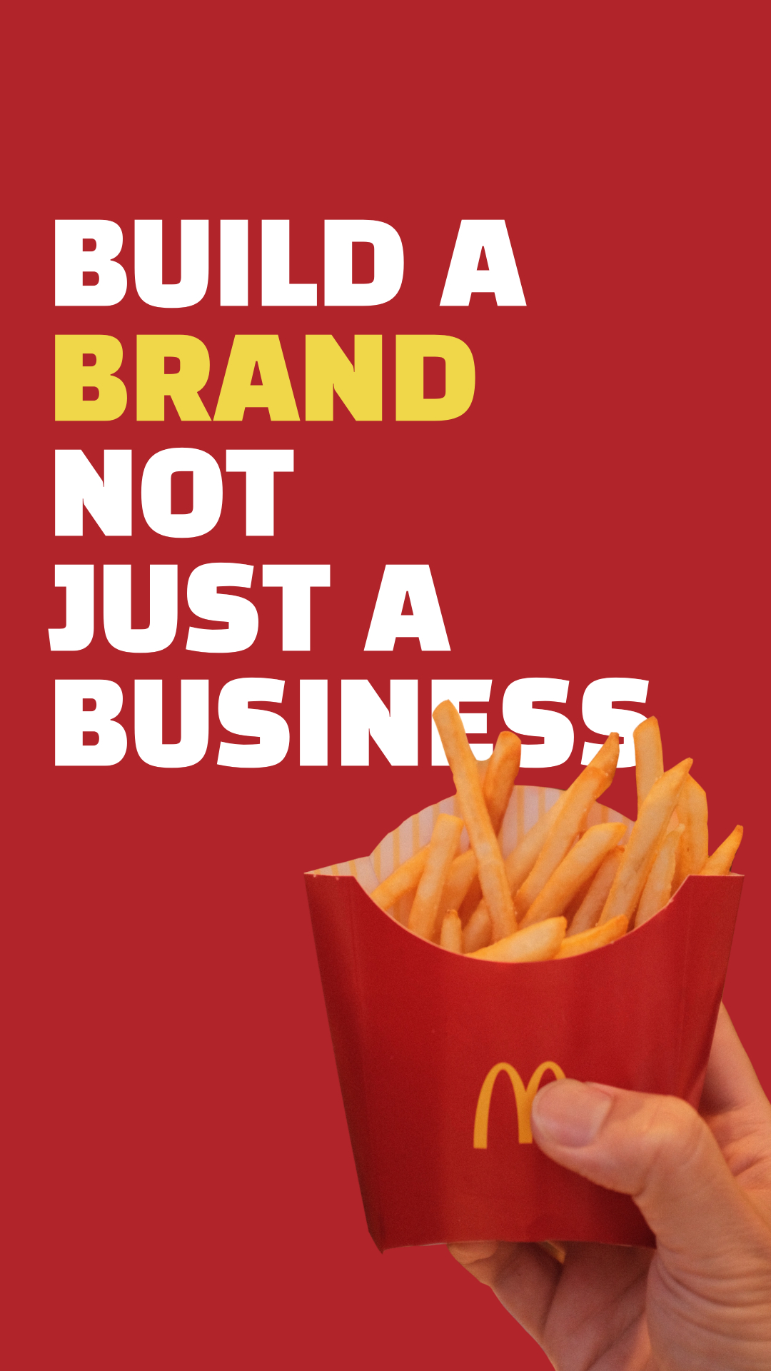 Build a brand not just a business