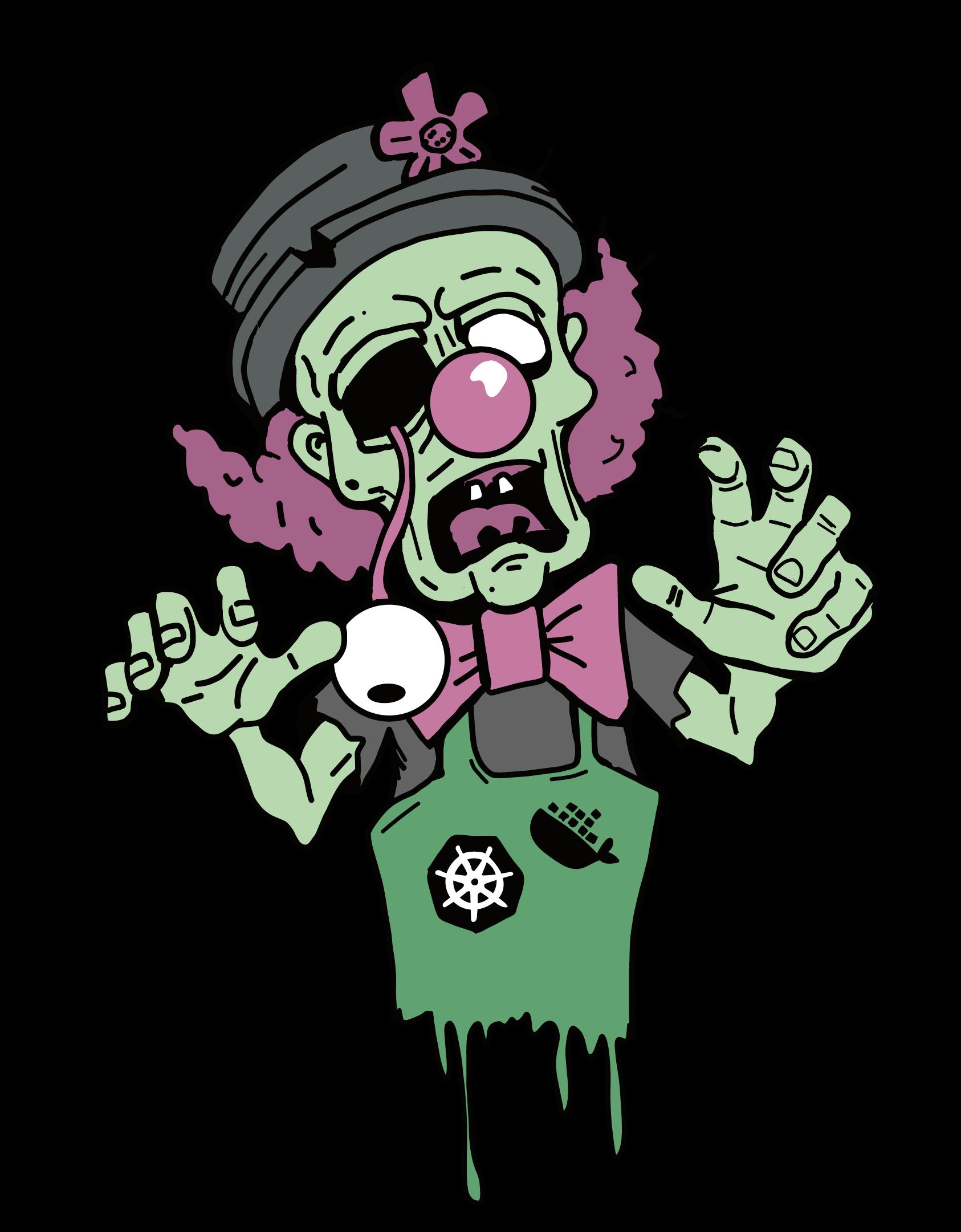 Spooky Clown Cartoon