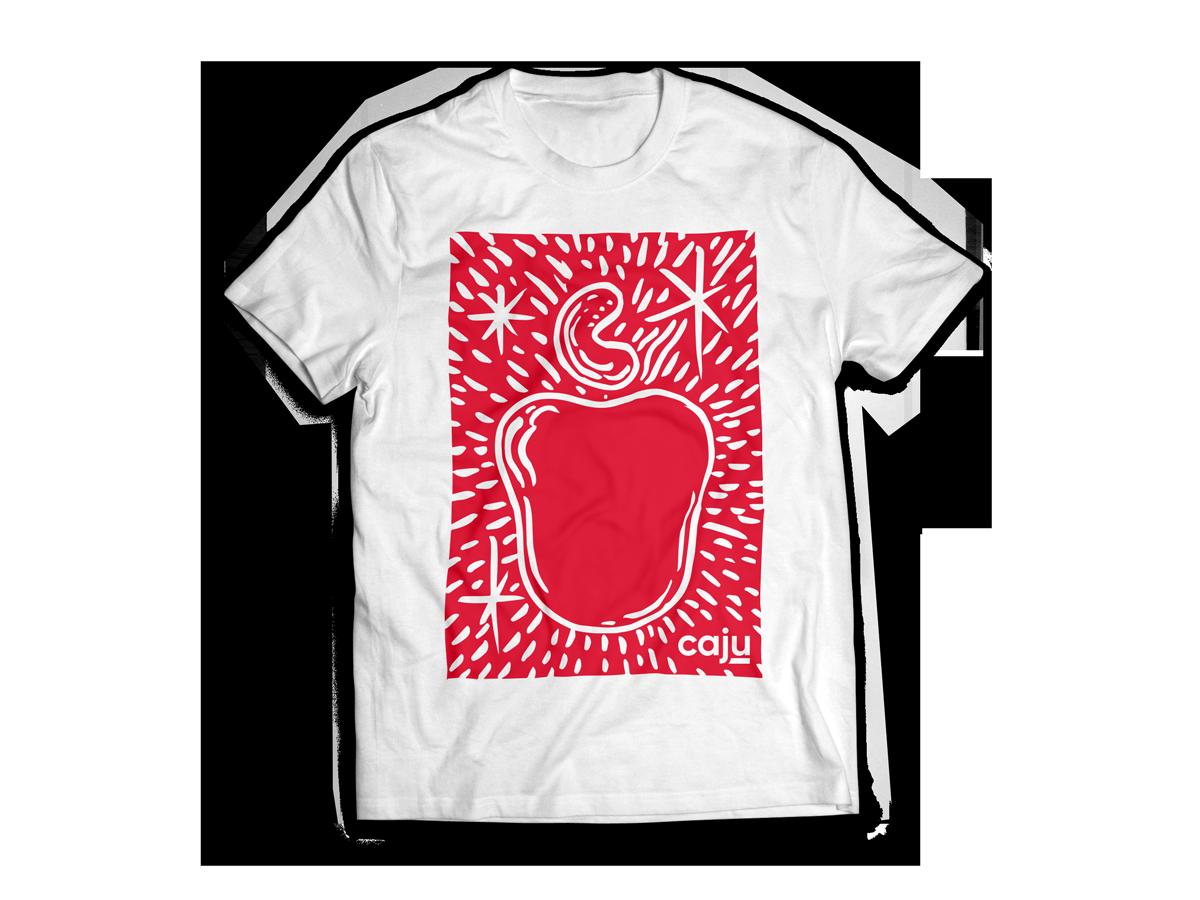 Camiseta produzida em algodão fio 30.1 cardado.