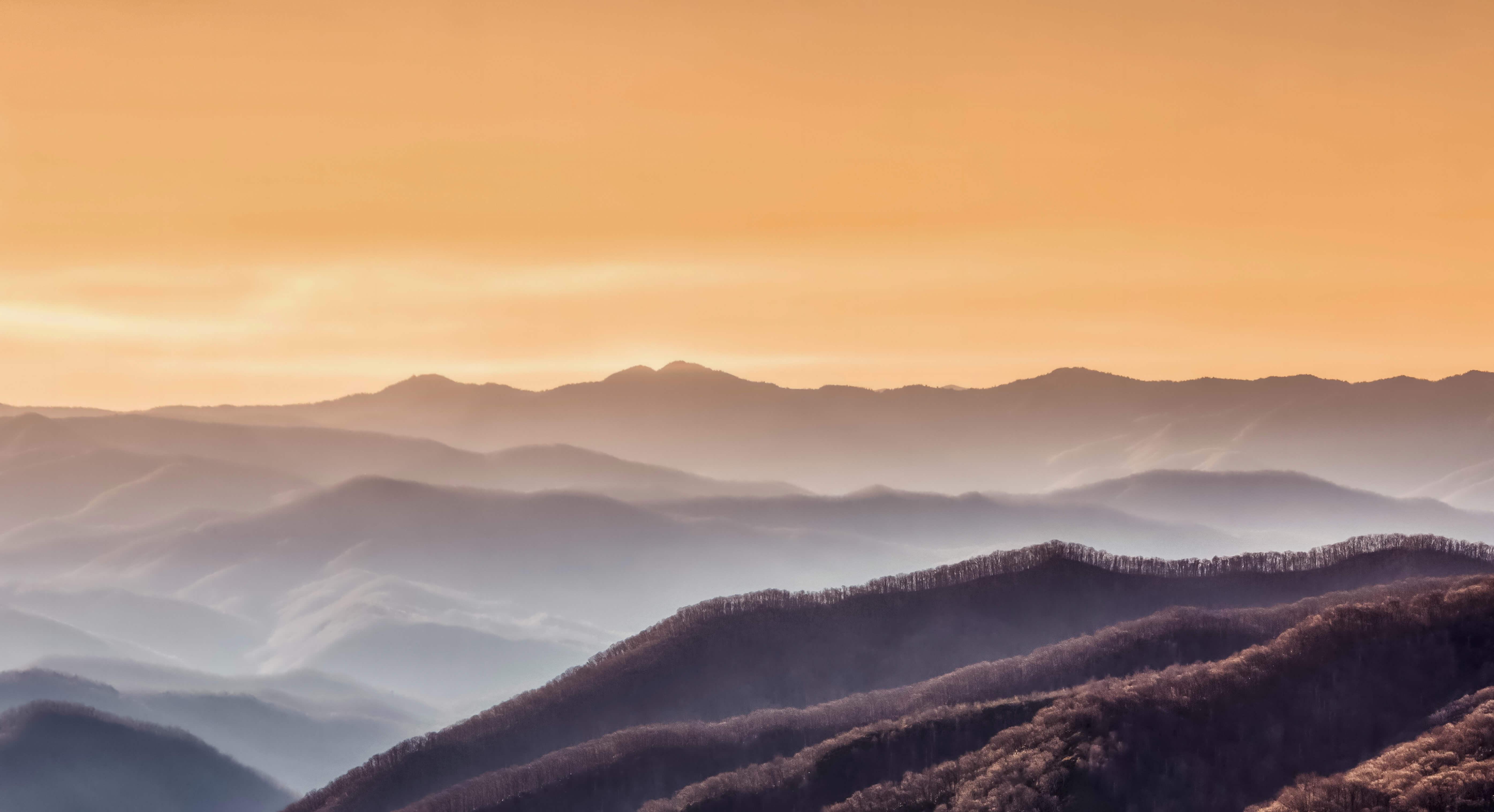 A landscape shot of a mountain range
