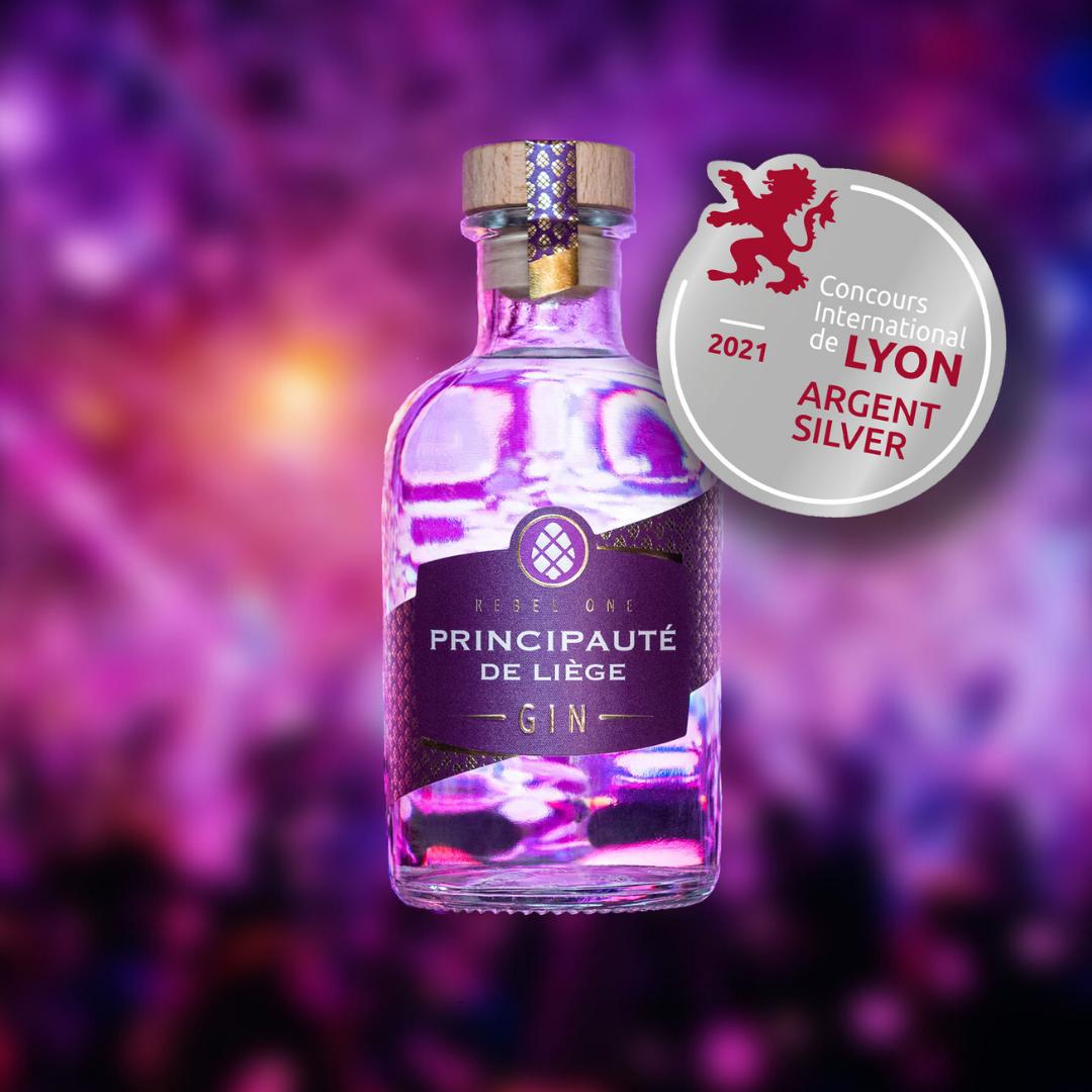 Le Gin Rebel One Principauté de Liège médaille d'argent au Concours international de Lyon